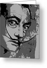 Dali In B W Greeting Card