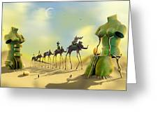 Dali On The Move  Greeting Card