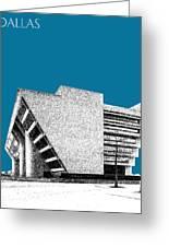 Dallas Skyline City Hall - Steel Greeting Card