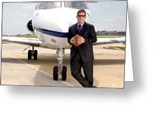 Dallas Cowboys Superbowl Quarterback Troy Aikman Greeting Card