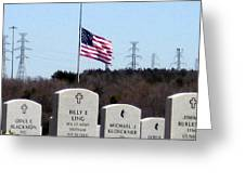 Dallas Fort Worth Memorial Cemetery Greeting Card
