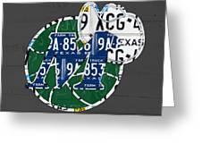 Dallas Mavericks Basketball Team Retro Logo Vintage Recycled Texas License Plate Art Greeting Card