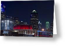 Dallas Skyline Arts District At Night Greeting Card