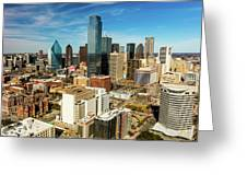 Dallas Skyline As Seen From Reunion Greeting Card