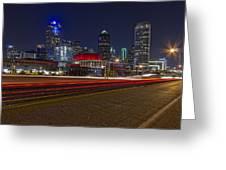 Dallas Skyline At Night Greeting Card