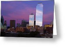 Dallas Sunset Greeting Card