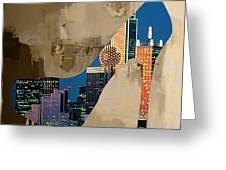 Dallas Texas Skyline In A Shoe. Greeting Card