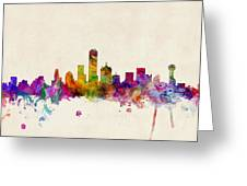 Dallas Texas Skyline Greeting Card by Michael Tompsett
