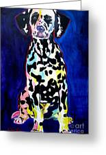 Dalmatian - Polka Dots Greeting Card