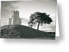 Dalmatian Stone Church On The Hill Greeting Card by Brch Photography