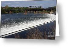 Dam And Rail Runs Greeting Card