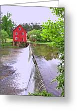 Dam At Starrs Mill Greeting Card