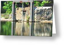 Dam Gate Greeting Card