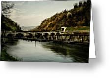 Dam On Adda River Greeting Card