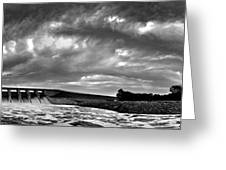 Dam Panoramic Greeting Card