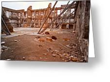 Damaged Building Greeting Card