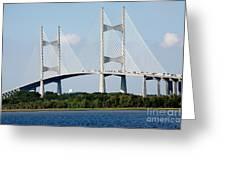Dames Point Bridge Jacksonville Florida Greeting Card