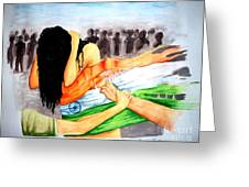 Delhi Gang Rape A Tragedy Greeting Card