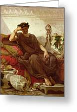 Damocles Greeting Card by Thomas Couture