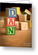 Dan - Alphabet Blocks Greeting Card