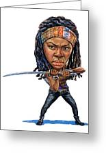 Danai Gurira As Michonne Greeting Card