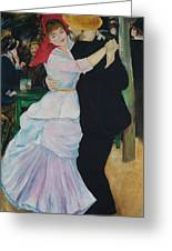 Dance At Bougival Renoir Greeting Card