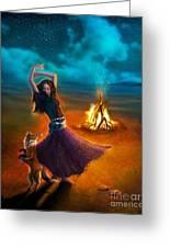 Dance Dervish Fox Greeting Card