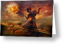 Dance In The Fire Greeting Card