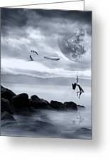 Dance In The Moon Greeting Card
