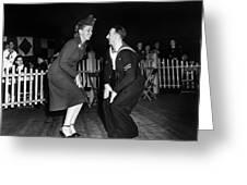 Dance: Lambeth Walk, C1940 Greeting Card