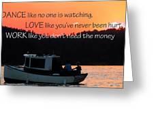 Dance Love Work 21037 Greeting Card