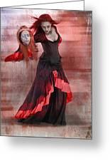Dance Macabre Greeting Card by Hazel Billingsley