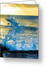 Dance Of The Crashing Wave Greeting Card