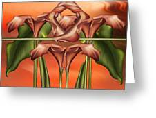 Dance Of The Orange Calla Lilies II Greeting Card