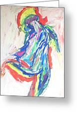 Dance Of The Rainbow Greeting Card