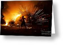 Dance On Fire Greeting Card