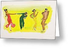 Dance Series 5 Of 8 Lindy Hop-swing Greeting Card