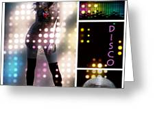 Dance Series - Disco Greeting Card by Linda Lees