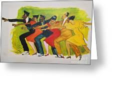 Dance Series1 0f 8-shim Sham Shimmy Greeting Card