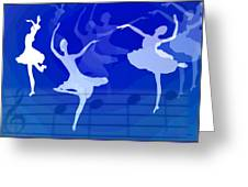 Dance The Blues Away Greeting Card