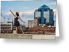 Dance The Durham Skyline Greeting Card by Jh Photos