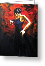 Dancer Flamenco Greeting Card