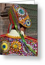 Dancer In Native Costume Peru Greeting Card