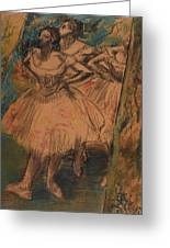 Dancer In The Wing Greeting Card by Edgar Degas