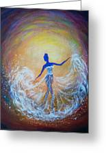 Dancer In White Dress Greeting Card