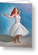 Dancer In White Greeting Card