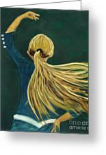 Dancer With Hair Greeting Card