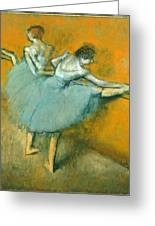 Dancers At The Barre Greeting Card