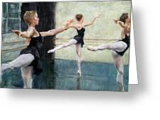 Dancers At Work Greeting Card