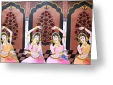Dancers In Mughal Court Greeting Card
